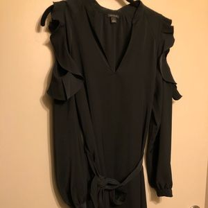 Loft Black Dress, Open Sleeve SIZE SMALL